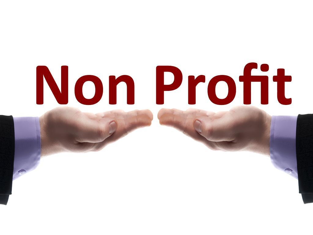 Non profit message in male hands