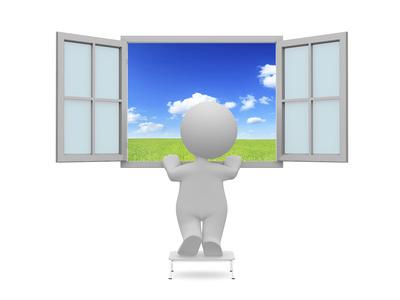 Omino finestra